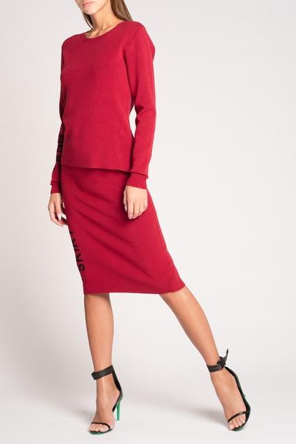 6586095160f4 Красная юбка-карандаш с надписью Off-white