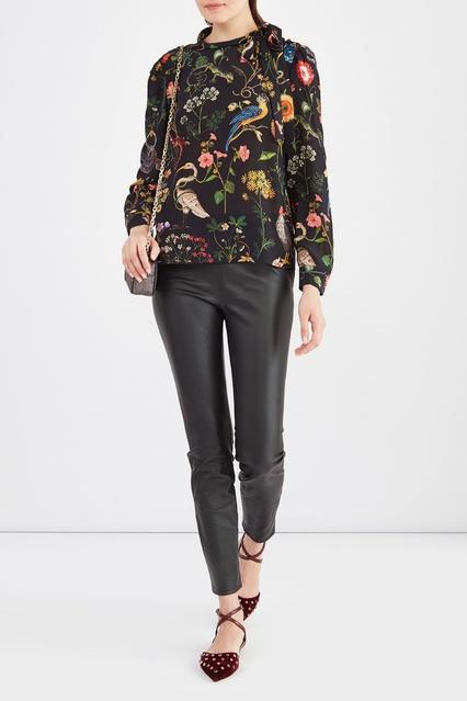 139797dd5b3 Шелковая блуза с принтом Red Valentino – купить в интернет-магазине ...