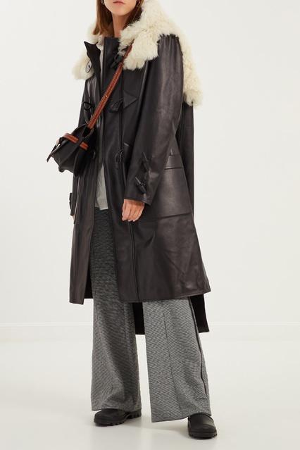 54a47bac9ab Кожаное пальто с отделкой из овчины LOEWE – купить в интернет ...