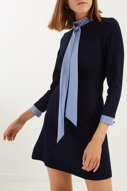 80680a457b8 Синее мини-платье Sandro – купить в интернет-магазине в Москве