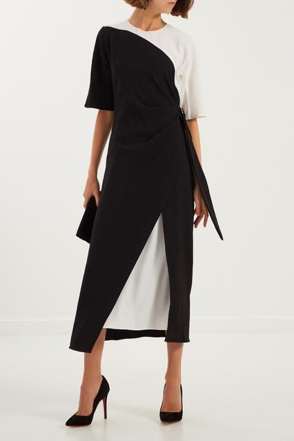 1062759e661 ... Черно-белое платье с драпировкой Adolfo Dominguez - Adolfo Dominguez