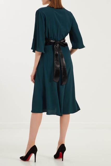 80a89b83ab6 Изумрудное платье миди с поясом Belka – купить в интернет-магазине в ...