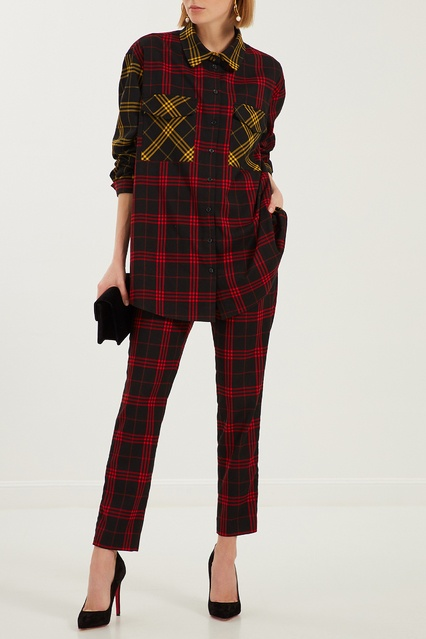 160a36d38ac Черно-красные клетчатые брюки ЛИ-ЛУ – купить в интернет-магазине в ...