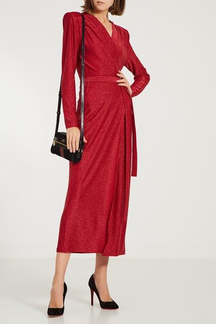 11c30e6eccf Красное платье миди с глиттером ЛИ-ЛУ – купить в интернет-магазине в ...