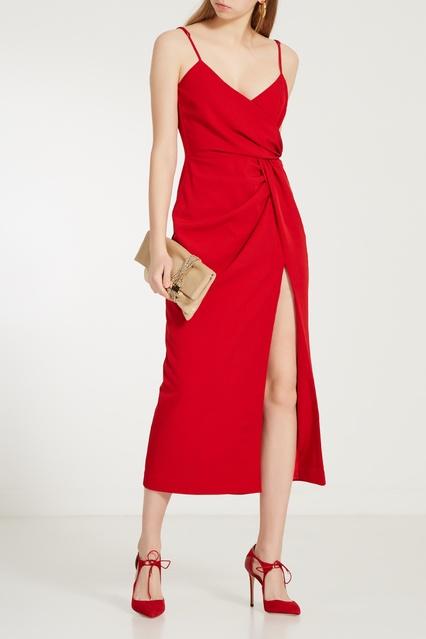 7e3f870a835 Красное платье на бретелях LAROOM – купить в интернет-магазине в Москве