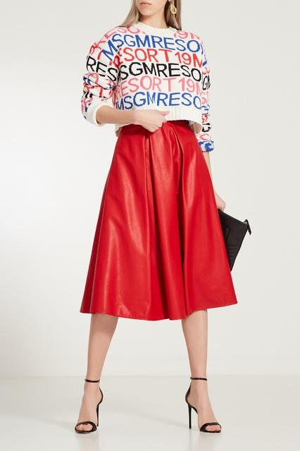 5c9436d4d33 Красная юбка-миди MSGM – купить в интернет-магазине в Москве