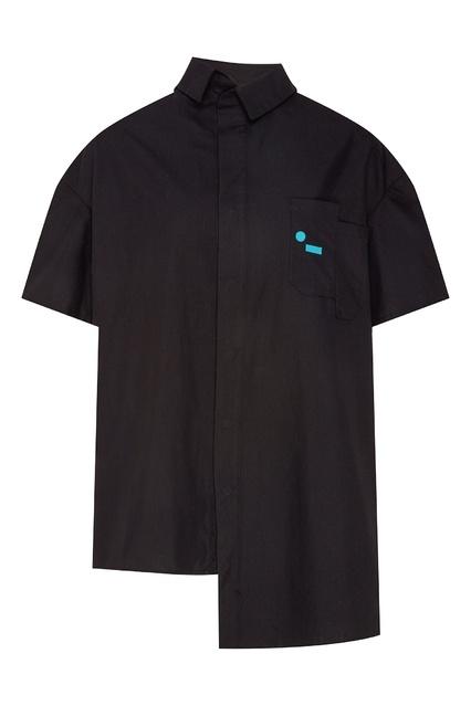 4756218c32426ea Черная рубашка асимметричного кроя mardo._ - mardo._, Мужское, Мужское  mardo ...