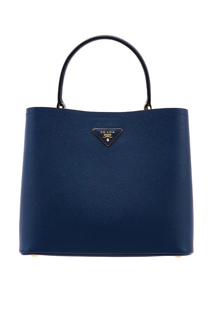 1210d5ce3e51 Синяя кожаная сумка-тоут Galleria Prada - Prada, Женское, Женское Prada,  вид ...