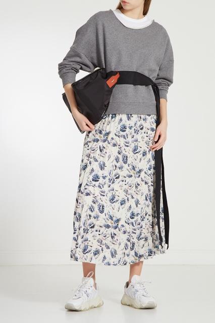 b9ff2c2ebf4 Плиссированная юбка с принтом Adolfo Dominguez – купить в интернет ...