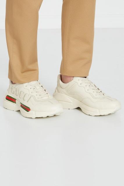 2e9c173f ... Белые кожаные кроссовки Rhyton Gucci Man - Gucci Man, Мужское, Мужское  Gucci Man, ...