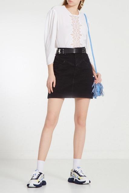 243039a835b ... Черная джинсовая юбка Sandro - Sandro, Женское, Женское Sandro, вид 2  ...