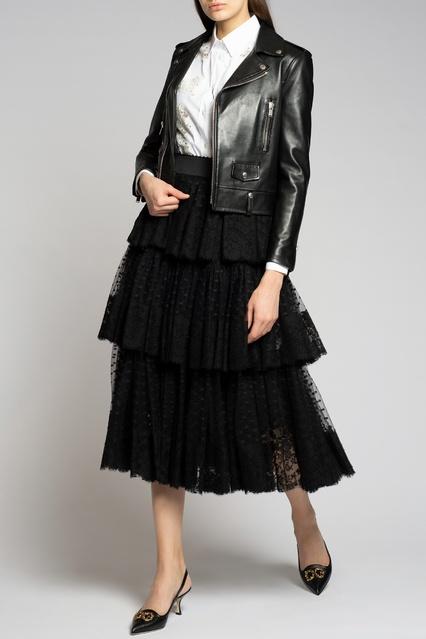 3c3c78e2eb2 Рубашка с кружевными вставками Dolce Gabbana – купить в интернет ...