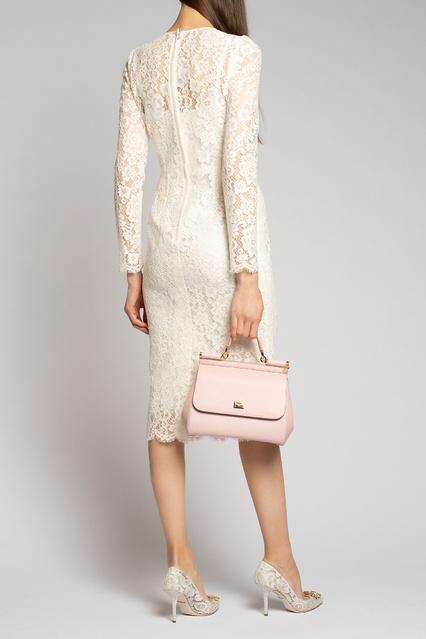 3ebcf04a542 ... Белое кружевное платье с длинными рукавами Dolce Gabbana -  Dolce Gabbana