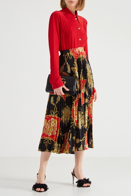 57bd7dd00b6 Плиссированная юбка с орнаментальным принтом Gucci – купить в ...