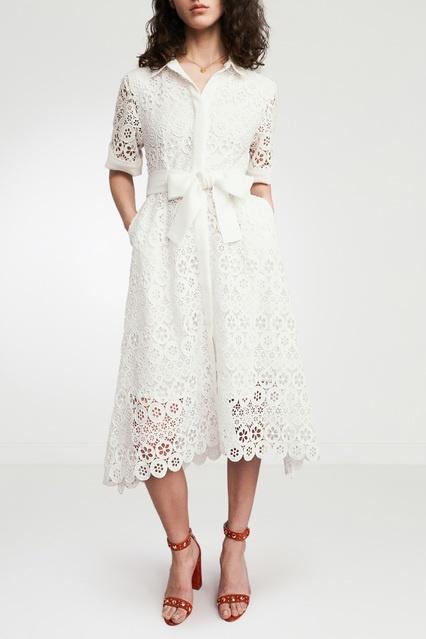 195e3f868ef Кружевное платье-миди Maje – купить в интернет-магазине в Москве