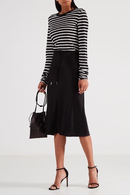 d635f99b5d1 Черная юбка миди с кулиской alexanderwang.t – купить в интернет ...
