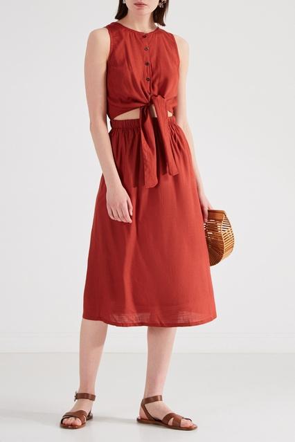 e3ca1c31fee Красное платье из вискозы RVCA – купить в интернет-магазине в Москве