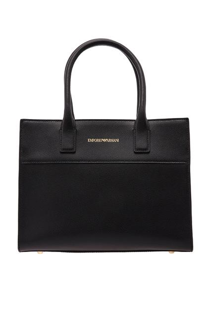 36360700da41 Черная кожаная сумка с логотипом Emporio Armani - Emporio Armani, Женское,  Женское Emporio Armani ...