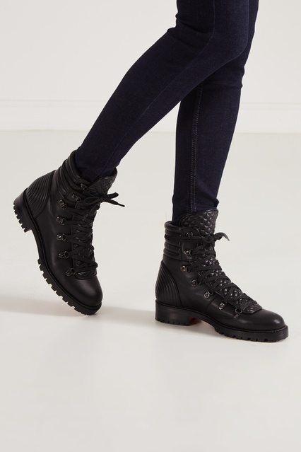 save off 1a88c 17ae6 Черные кожаные ботинки Mad Boot Christian Louboutin
