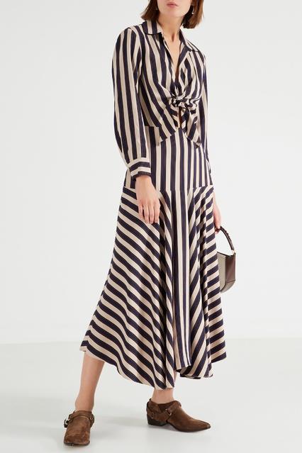 3069371050f1dc4 ... Длинное платье в полоску Sandro - Sandro, Женское, Женское Sandro, вид  2 ...