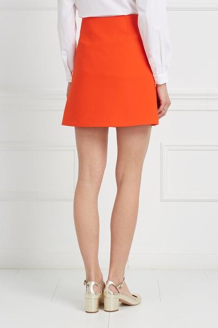 Оранжево-красная юбка
