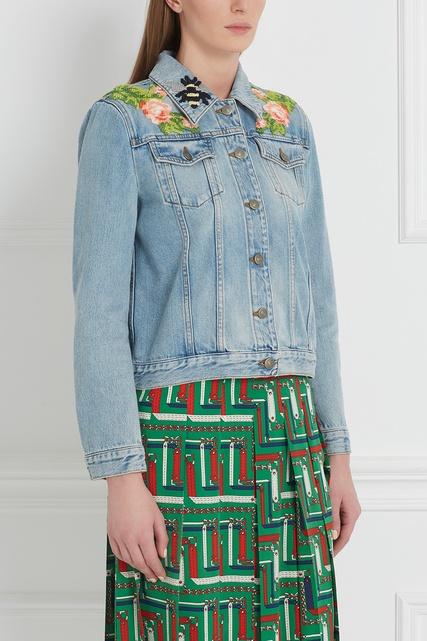 Джинсовые куртки с вышивкой купить в интернете магазине