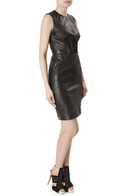 Классическое кожаное платье