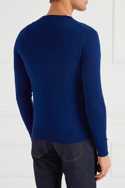 Трикотажный джемпер синего цвета