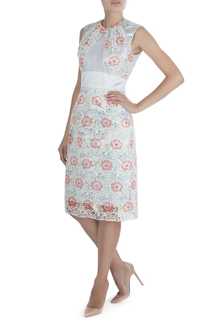 Шелковое коктейльное платье брендовые