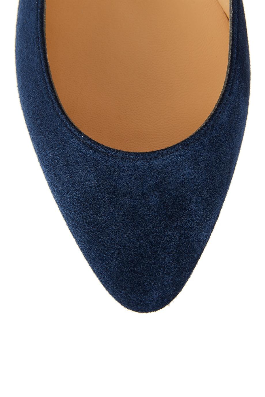 new concept f5281 eff23 Синие балетки из замши Eloise Flat