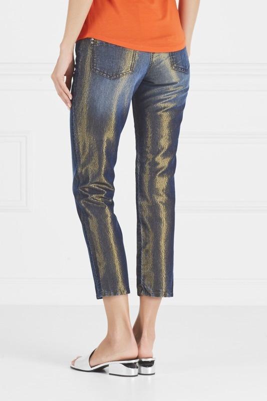 Blumarine Блестящие джинсы