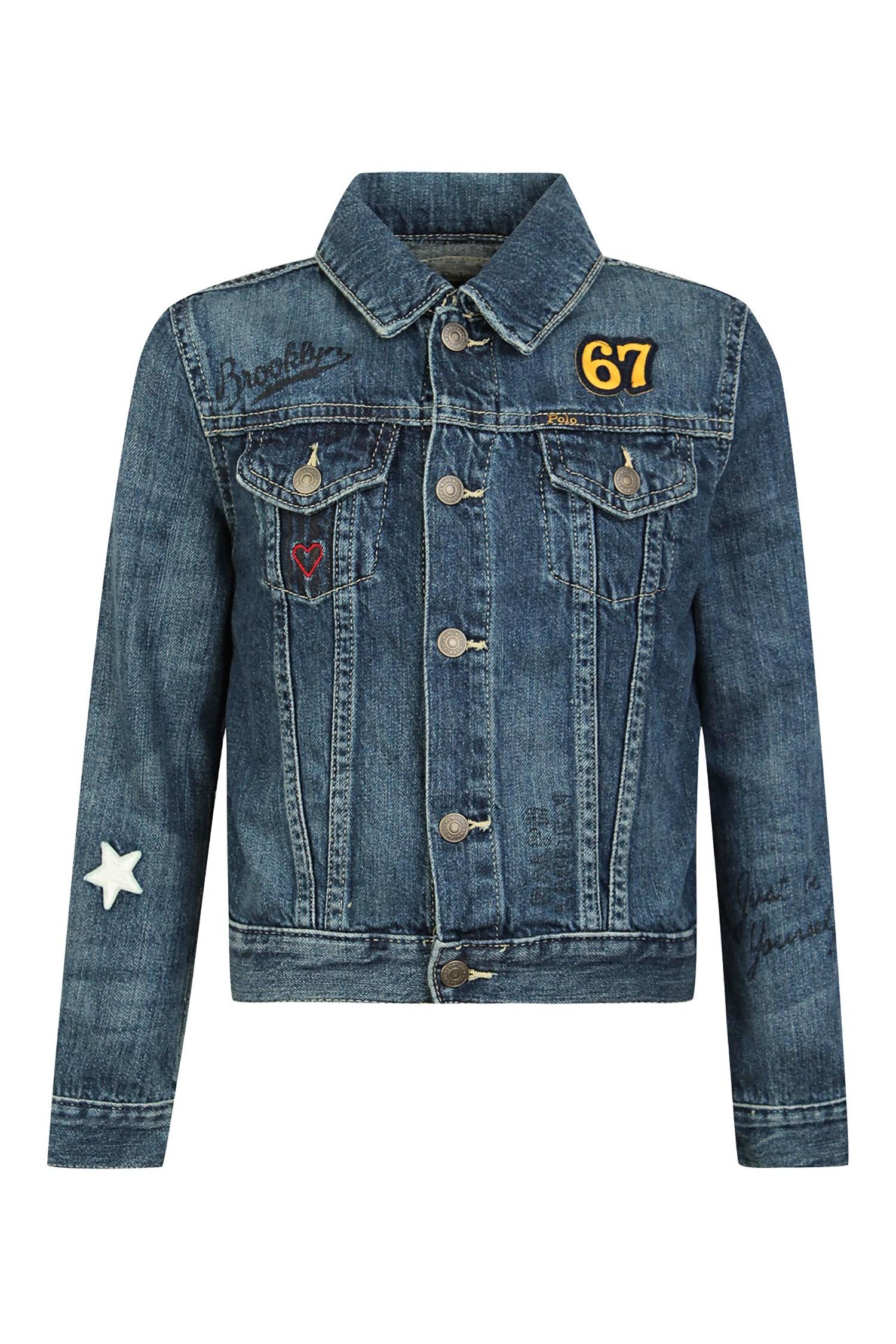 e189f921bf1 Джинсовая куртка с нашивками Polo Ralph Lauren Kids (фото). Подпишитесь на  наши новости