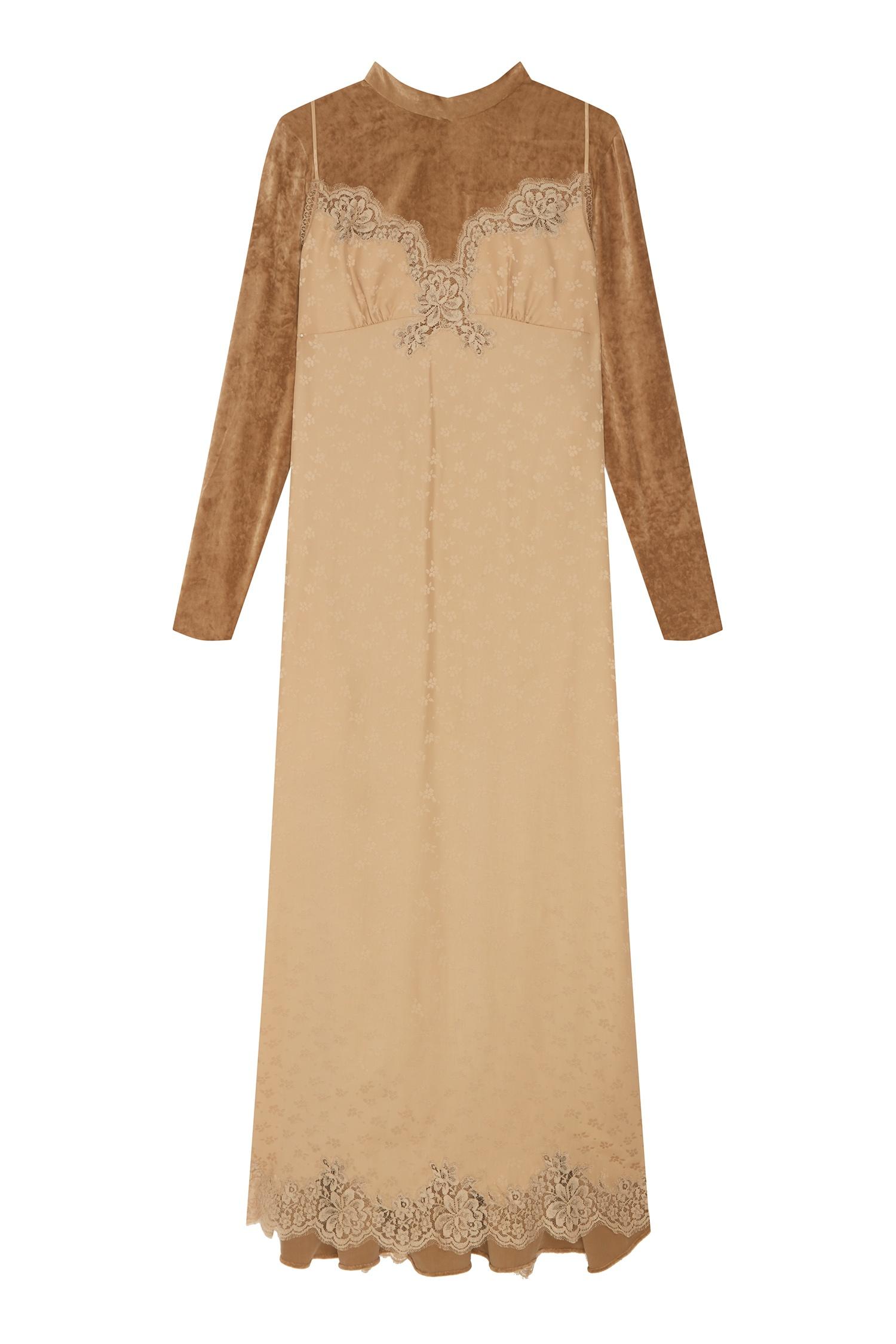 b23dd82892c Платье макси с длинными рукавами Stella McCartney – купить в ...