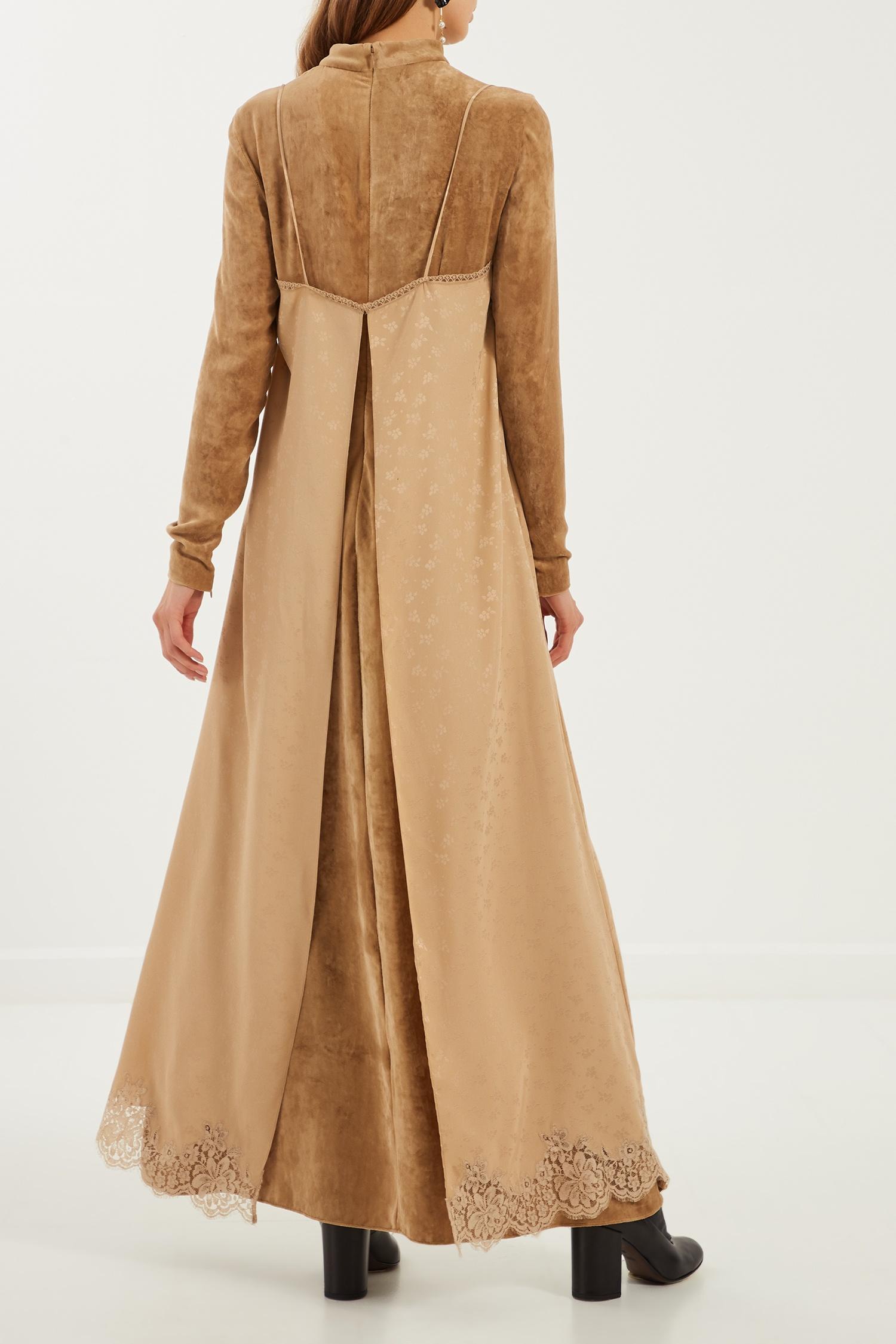 95accb79321 ... Женское · Женское Stella McCartney. Код товара  136299. Платье макси с длинными  рукавами ...