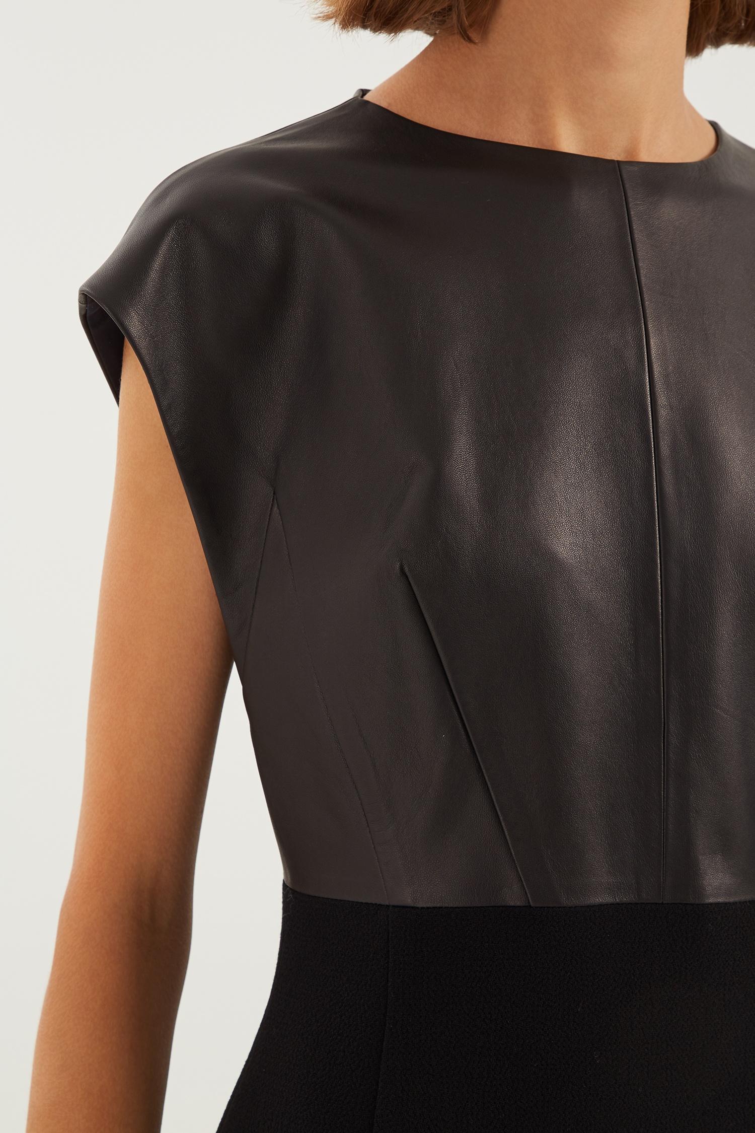 dfc63a10d06 Черное платье миди без рукавов Chapurin – купить в интернет-магазине ...
