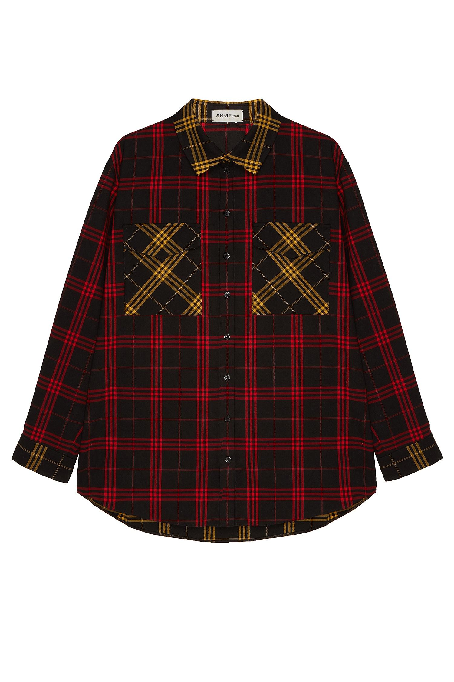 fd5224c5b62 Свободная клетчатая рубашка ЛИ-ЛУ – купить в интернет-магазине в Москве