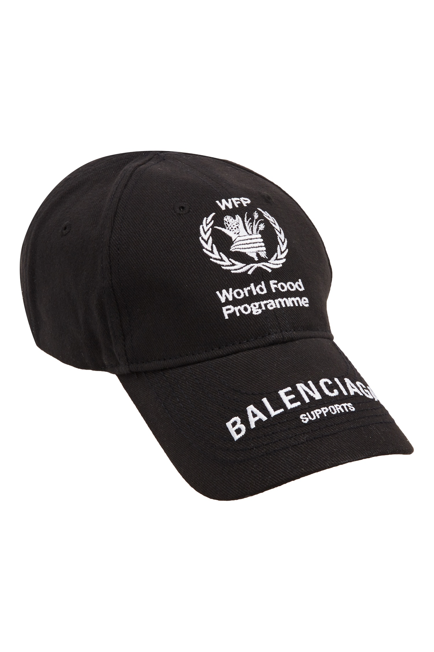 2f530da9305 Черная кепка World Food Programme Balenciaga Man – купить в интернет ...