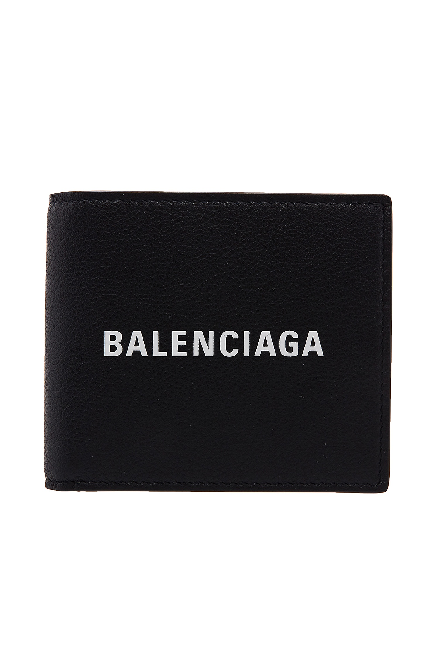 Черное портмоне Everyday Square Wallet Balenciaga Man (фото)