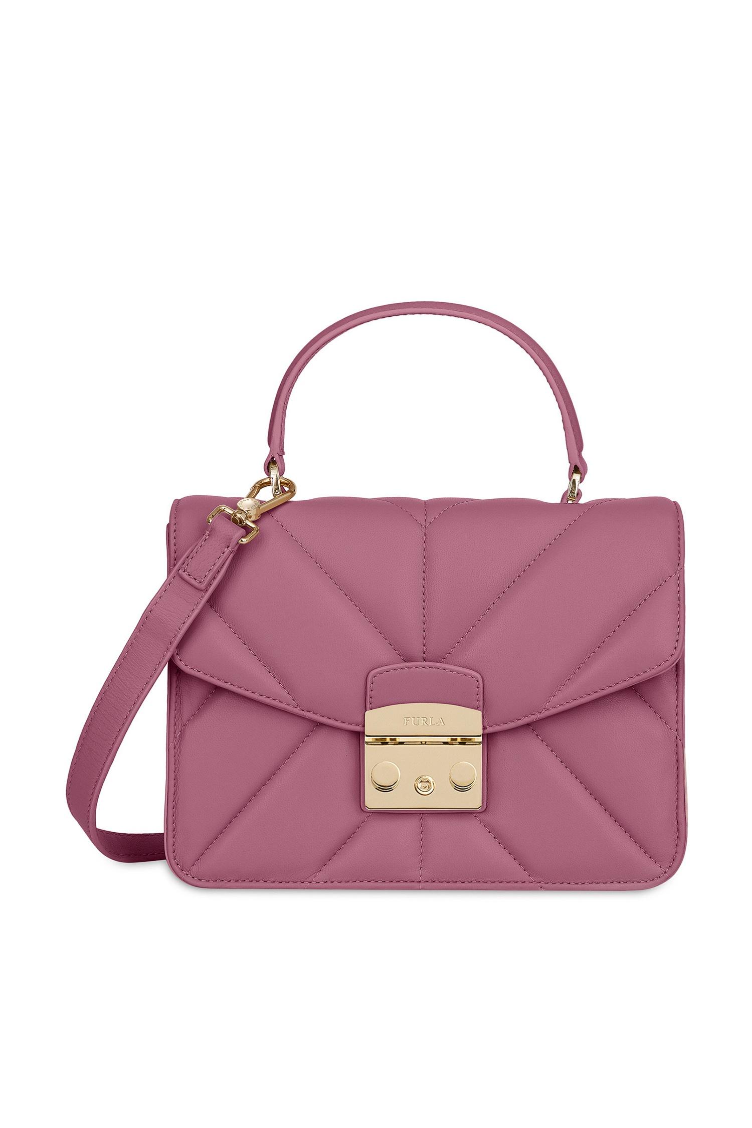 378d5d629e11 Розовая сумка Metropolis FURLA - Компактная сумка розового цвета ...