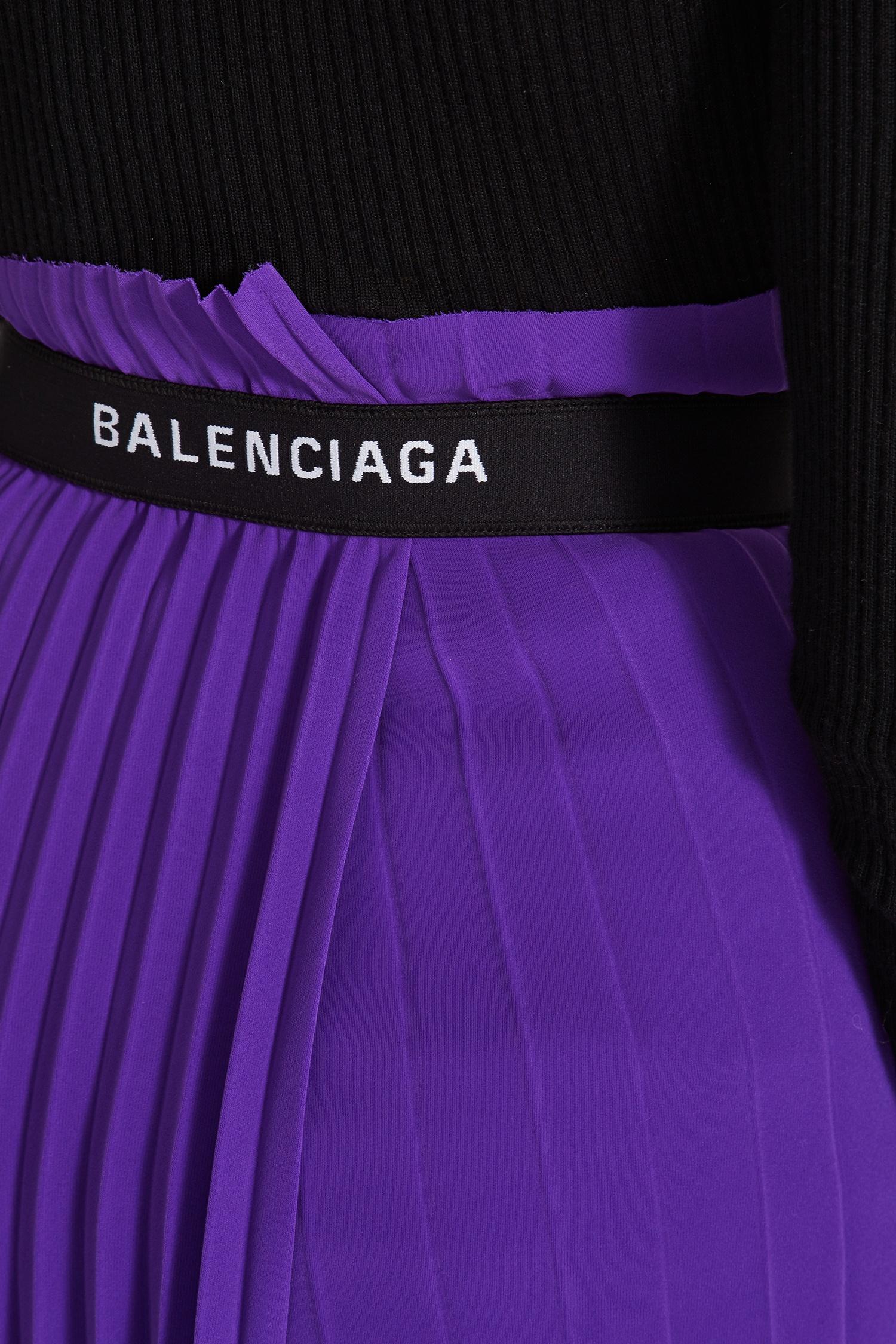 0b670e51e917 Фиолетовая плиссированная юбка миди Balenciaga