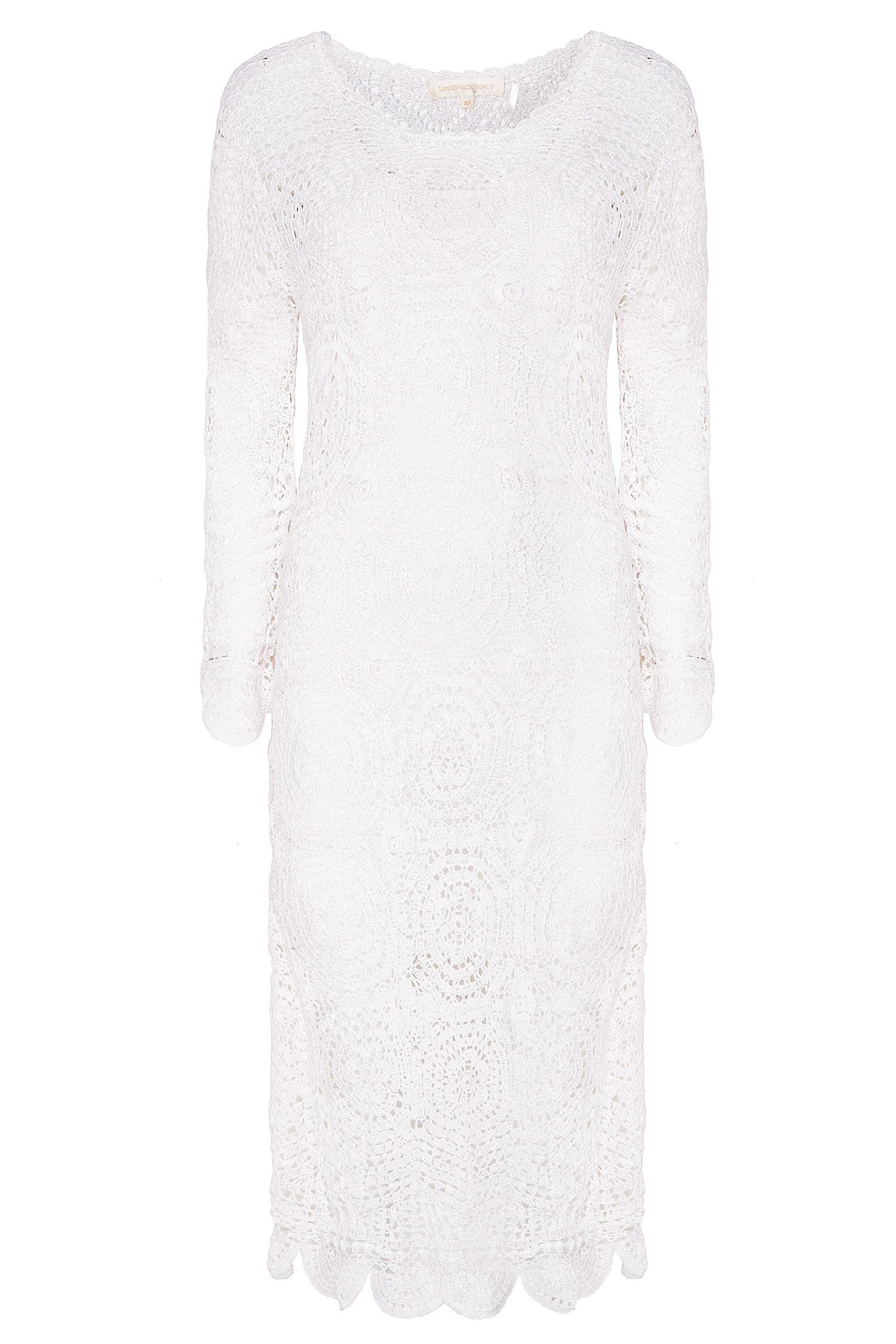 8e0b076b311 Белое вязаное платье Helen LoveShackFancy – купить в интернет ...