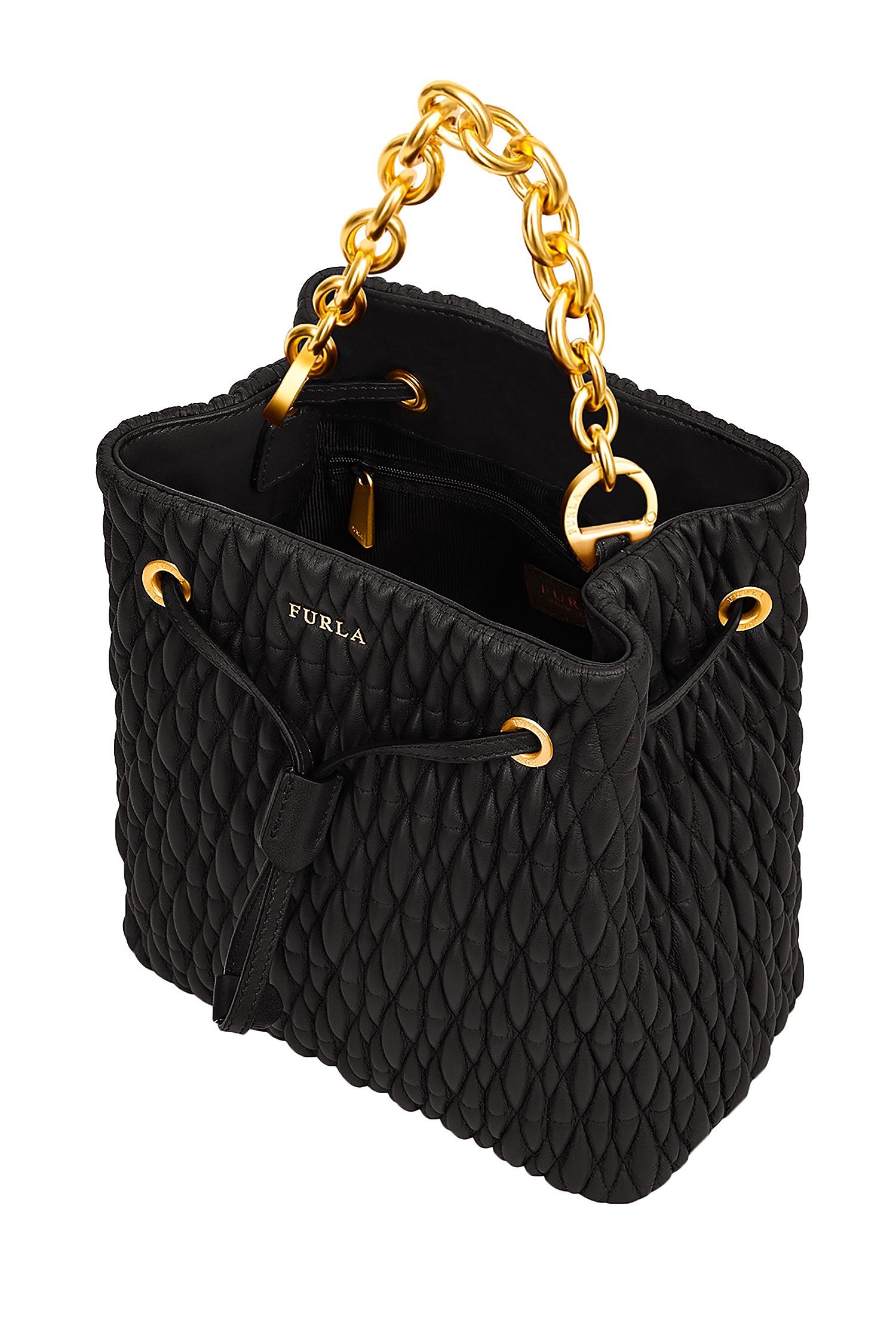 f58f72e0f1ea Черная стеганая сумка-торба Stacy Cometa FURLA – купить в интернет ...