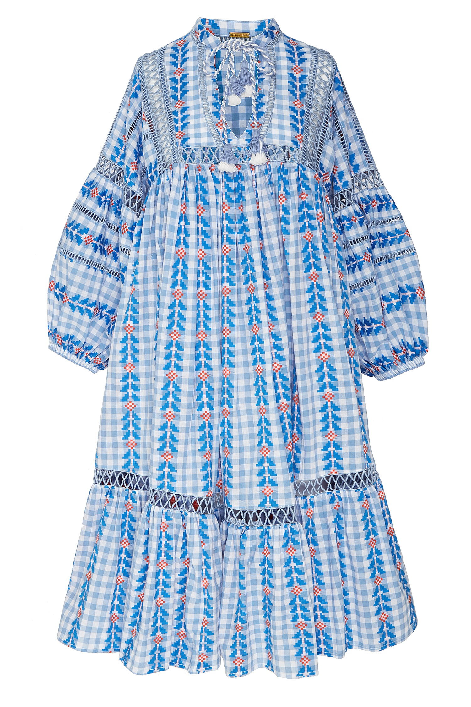 0f5231673c25 Голубое платье-туника Elena Dodo Bar Or - Свободное платье из ...