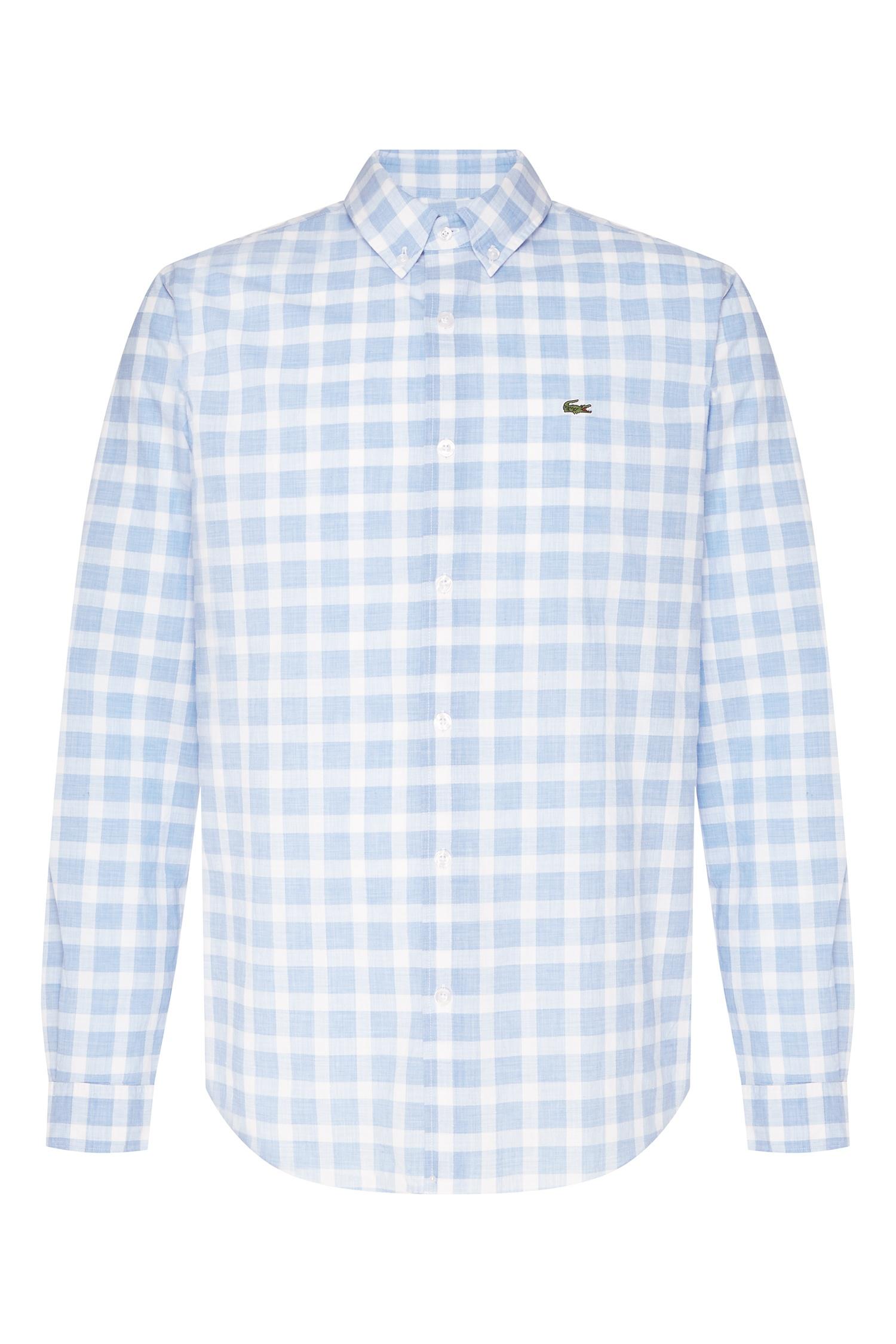 f1ddca03b07 Рубашка в клетку Lacoste – купить в интернет-магазине в Москве