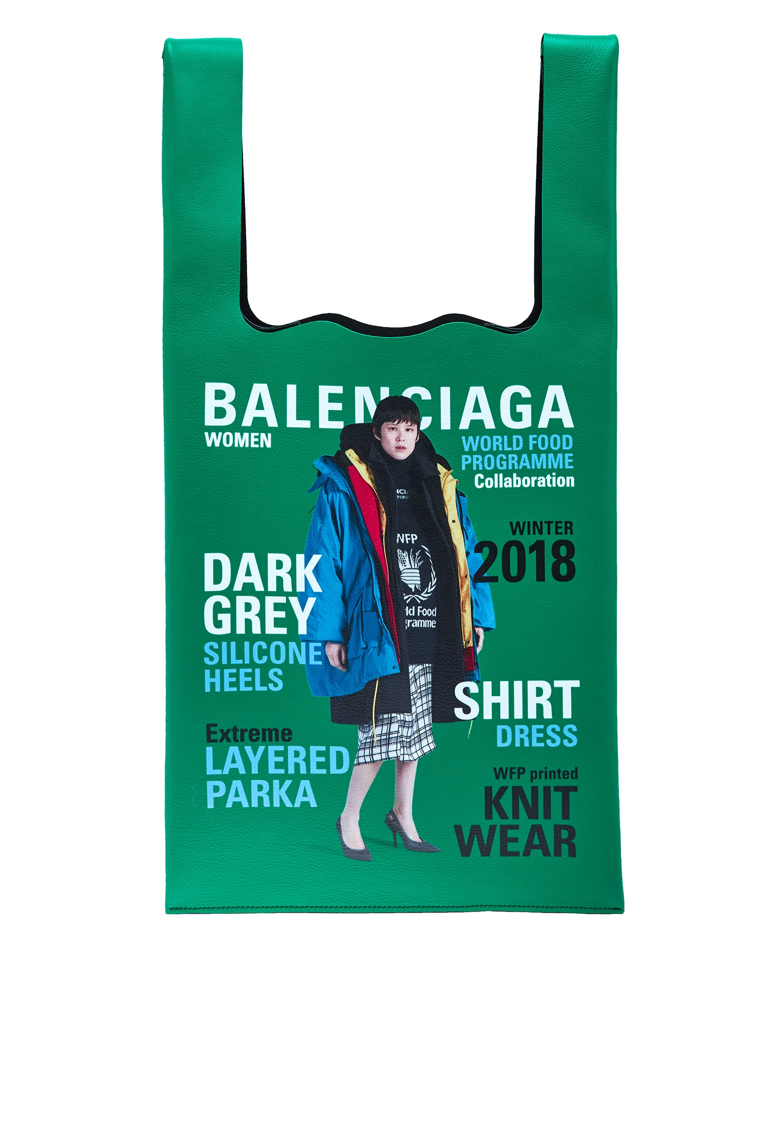 Сумка-шоппер Winter 18 Campaign Supermarket Balenciaga Man (фото)