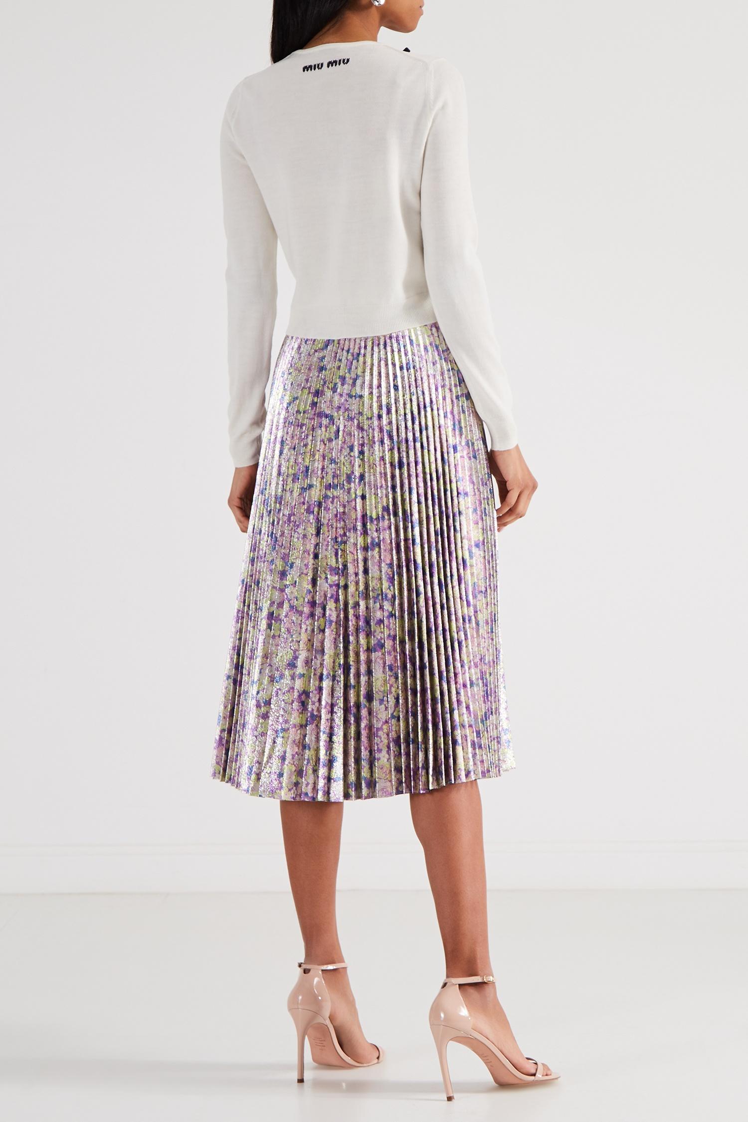 bb1d9f552e6 Плиссированная юбка с принтом Stella McCartney – купить в интернет ...