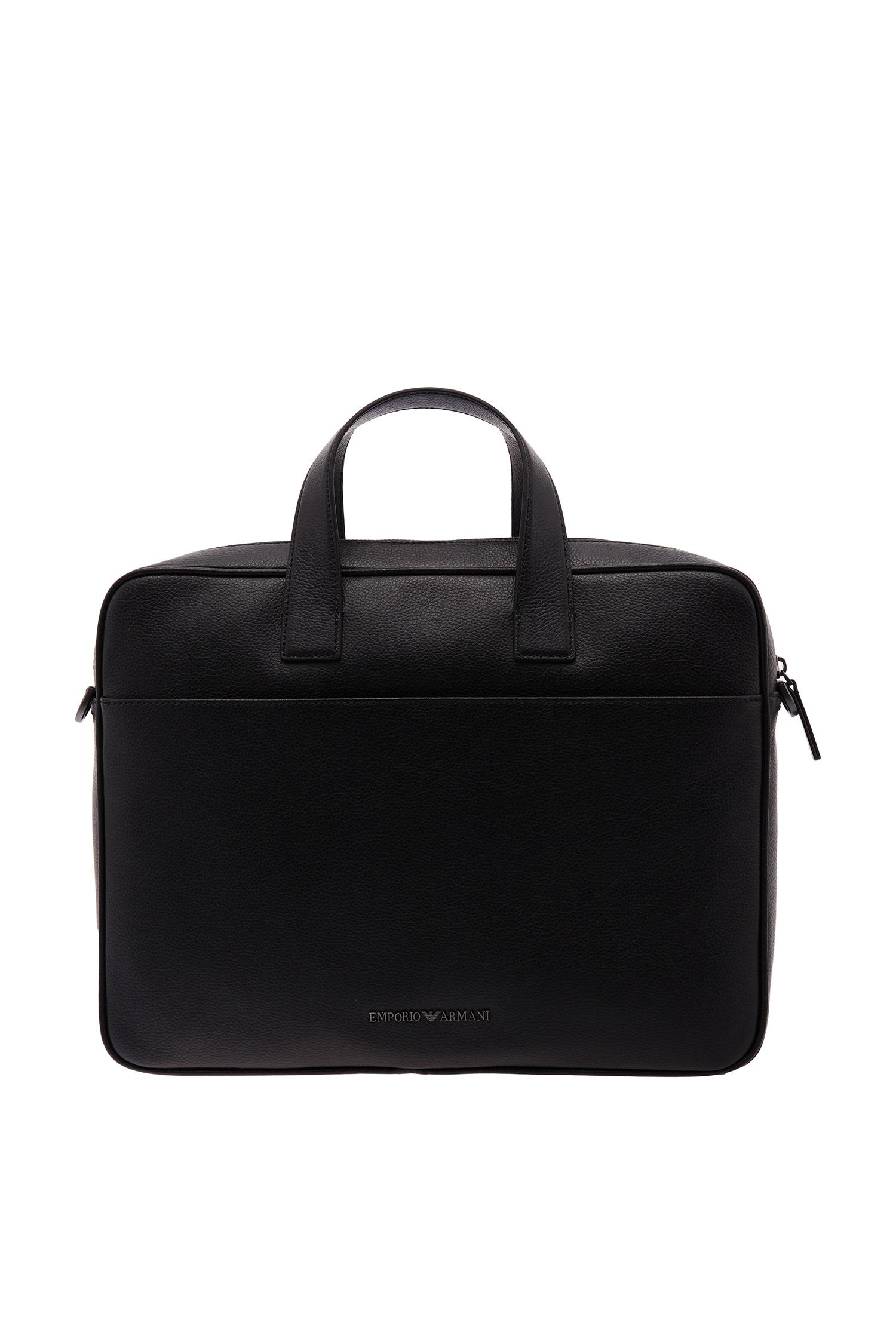 cb84365aaea8 Черная кожаная сумка Emporio Armani – купить в интернет-магазине в ...