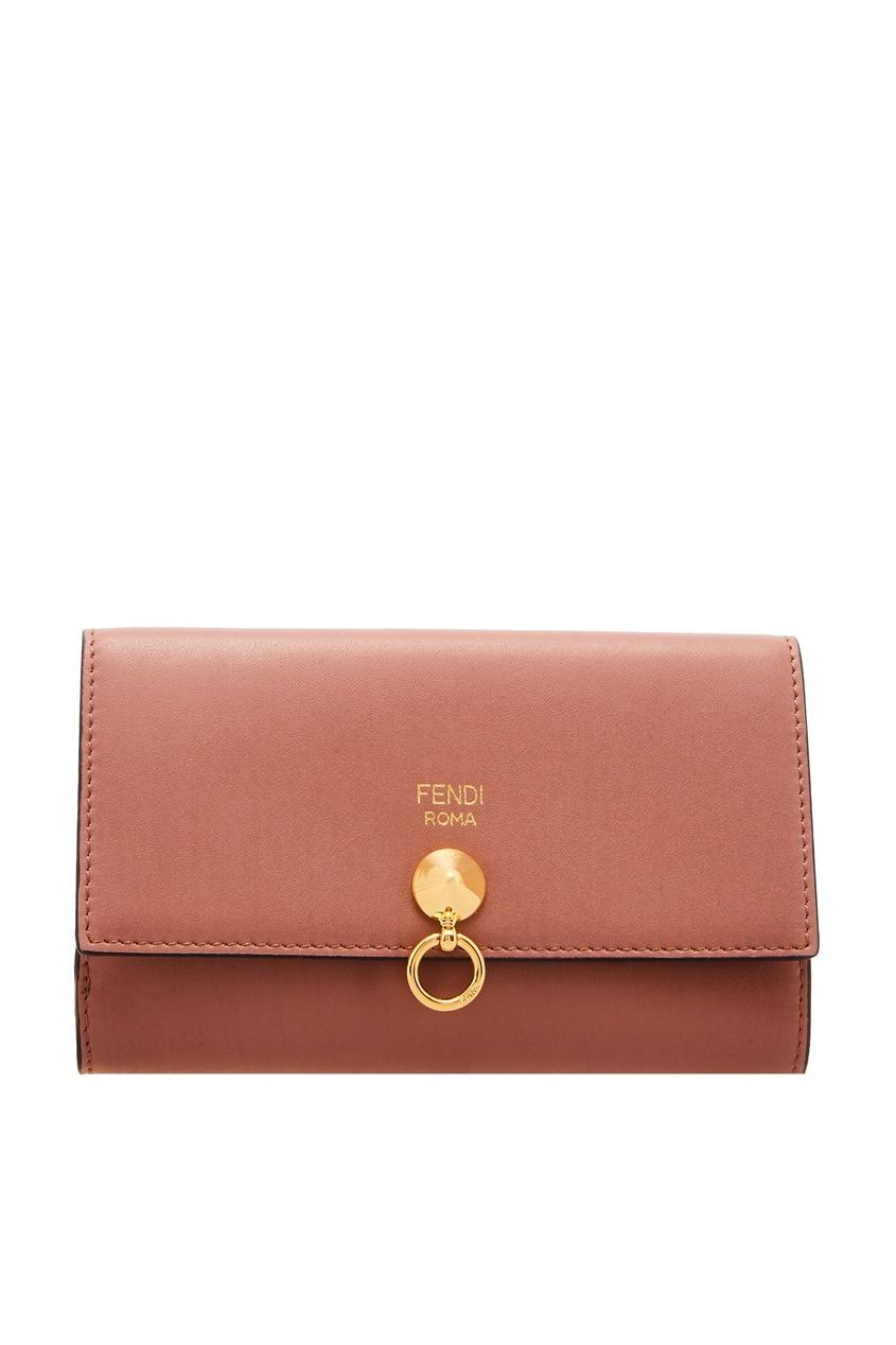 женский кошелёк fendi, розовый