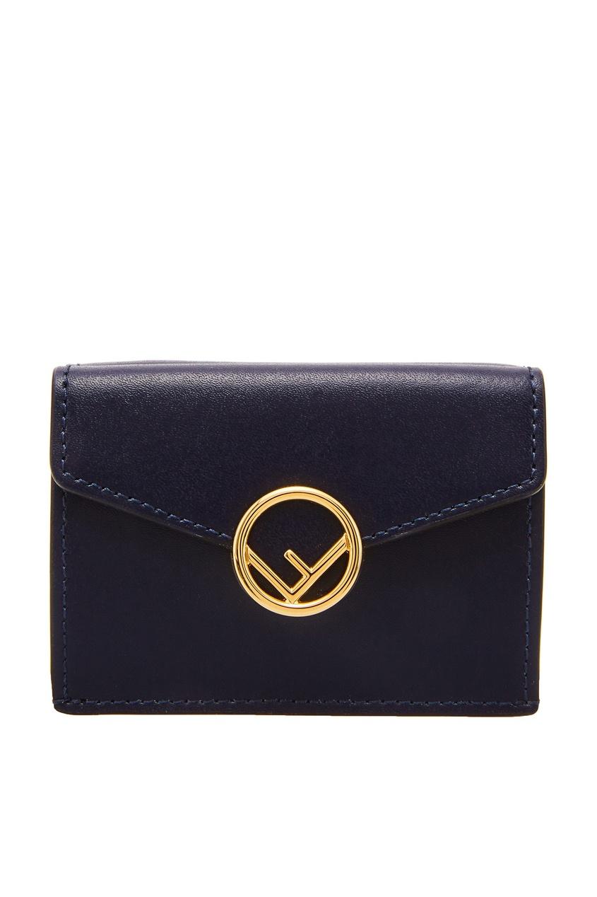 женский кошелёк fendi, синий