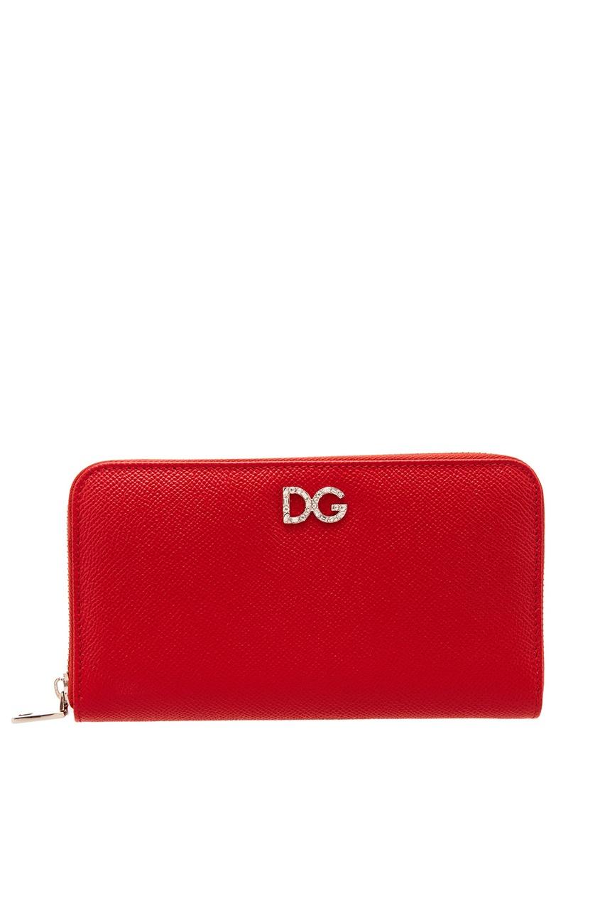 женский кошелёк dolce & gabbana, красный